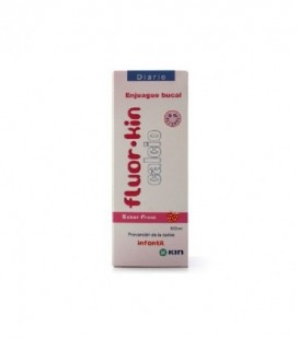 FLUOR KIN CALCIO ENJUAGUE BUCAL - (FRESA 500 ML)